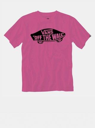 Růžové pánské tričko s potiskem VANS