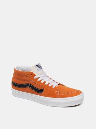 Oranžové pánské semišové tenisky VANS