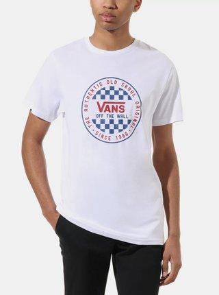 Biele pánske tričko s potlačou VANS