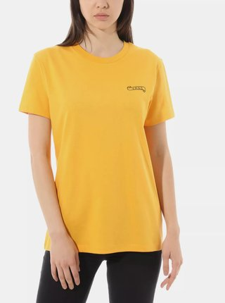 Horčicové dámske tričko VANS