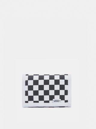 Čierno-biela kockovaná peňaženka VANS