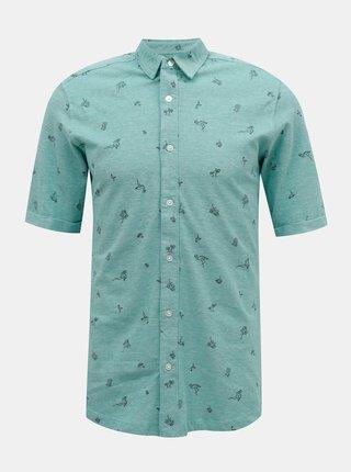 Modrá vzorovaná košeľa ONLY & SONS