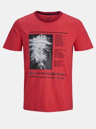 Červené tričko s potiskem Jack & Jones Jan
