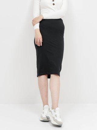 Čierna basic púzdrová midi sukňa Noisy May Anja