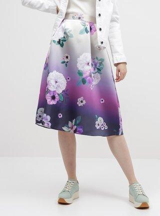 Fialová kvetovaná sukňa Dorothy Perkins