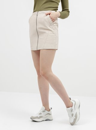 Béžová semišová sukňa ONLY Camara
