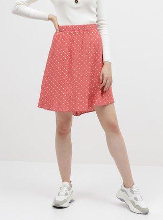 Korálová puntíkovaná sukně VILA Primera
