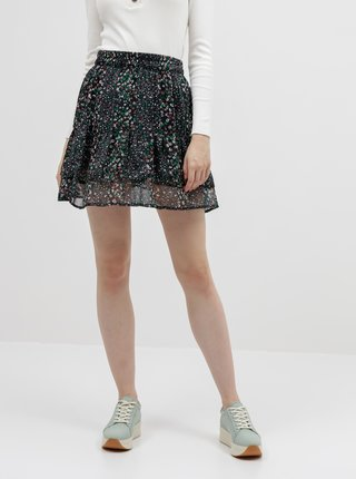Tmavomodrá vzorovaná sukňa Jacqueline de Yong