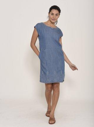 Modré rifľové šaty Brakeburn