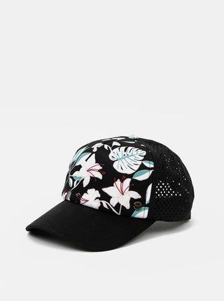 Čierna kvetovaná šiltovka Roxy