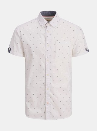 Bílá vzorovaná košile Jack & Jones Mars