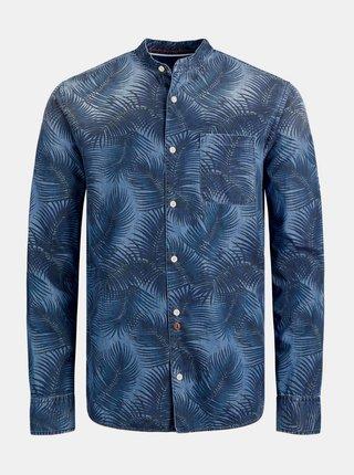 Tmavomodrá vzorovaná košeľa Jack & Jones Finley