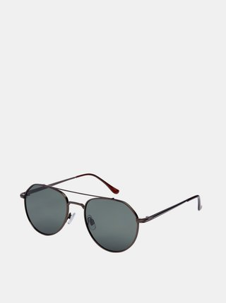 Hnědé sluneční brýle Jack & Jones