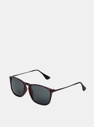 Hnedé vzorované slnečné okuliare Jack & Jones