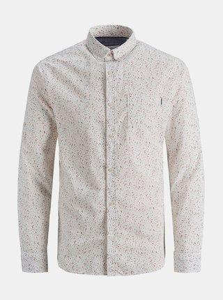 Bílá vzorovaná košile Jack & Jones Patrick