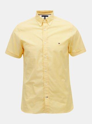 Žltá pánska slim fit košeľa Tommy Hilfiger