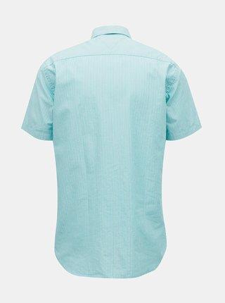 Modrá pánská pruhovaná košile Tommy Hilfiger