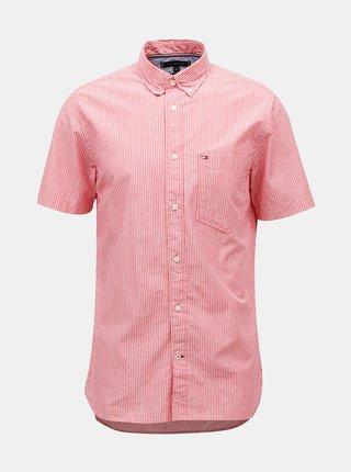 Červená pánská pruhovaná košile Tommy Hilfiger