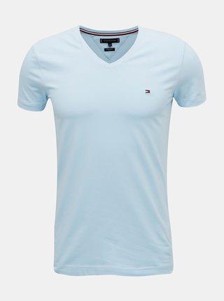 Světle modré pánské basic tričko Tommy Hilfiger
