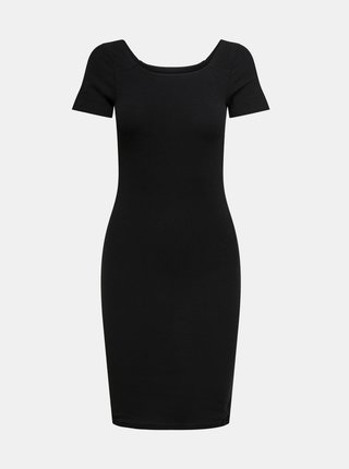 Čierne basic šaty ONLY Fiona