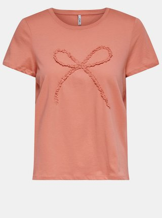 Koralové tričko ONLY Kylie