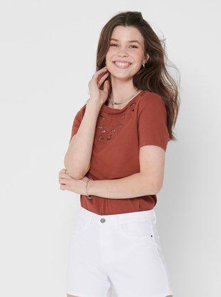 Tricouri pentru femei ONLY - maro