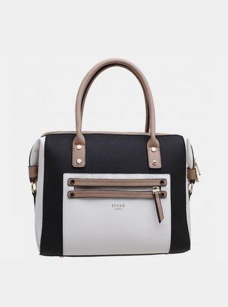 Šedo-čierna kabelka Bessie London