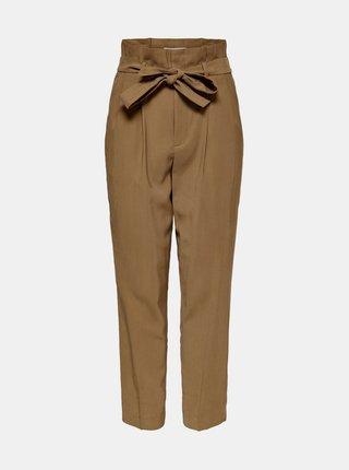 Hnědé kalhoty ONLY Suri
