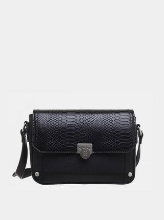 Čierna crossbody kabelka s hadím vzorom Bessie London