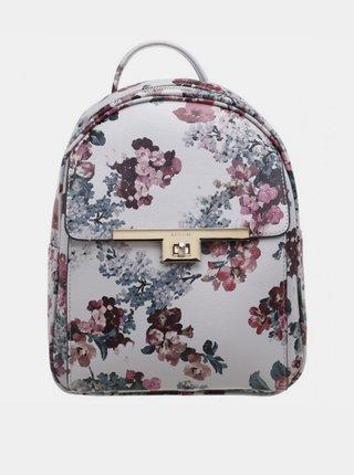 Vínovo-biely kvetovaný batoh Bessie London