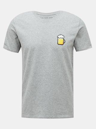 Šedé pánske tričko ZOOT Original Velký pívo