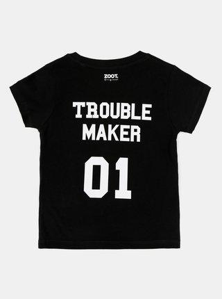 Černé dětské tričko s potiskem na zádech ZOOT Kids Troublemaker