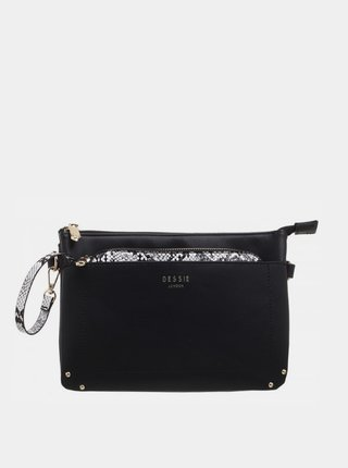 Čierna listová kabelka Bessie London