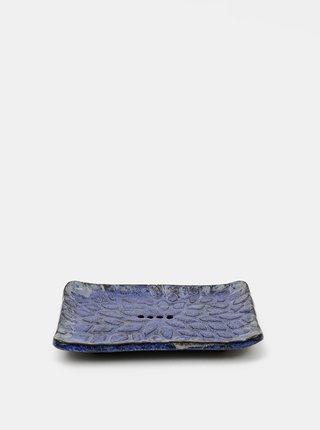 Modrá keramická mýdlenka Almara Soap Kapky