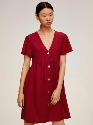 Vínové volné šaty Mango Thalia