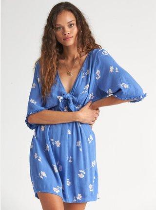 Modré kvetované šaty Billabong