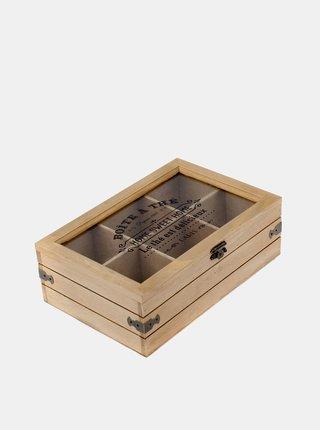 Hnědá krabička na čaj Dakls