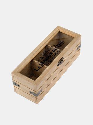 Hnedá krabička na čaj Dakls