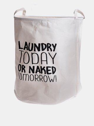 Bílý koš na prádlo Dakls