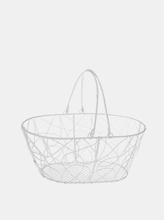 Biely kovový košík Dakls