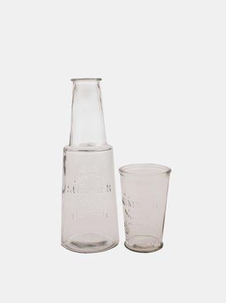 Skleněná karafa se skleničkou Dakls