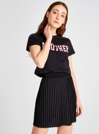 Černá plisovaná sukně Trendyol