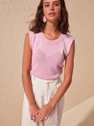 Fialové tričko Trendyol
