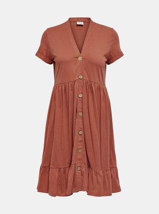Cihlové šaty Jacqueline de Yong Berry