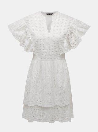 Biele šaty s madeirou VERO MODA Sophia