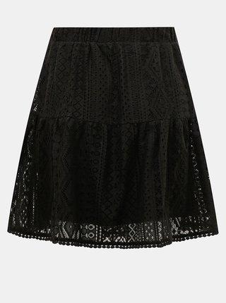 Čierna krajková sukňa VERO MODA Lea