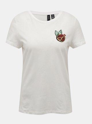 Bílé tričko VERO MODA Francis