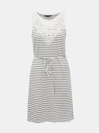 Biele pruhované šaty VERO MODA Hela