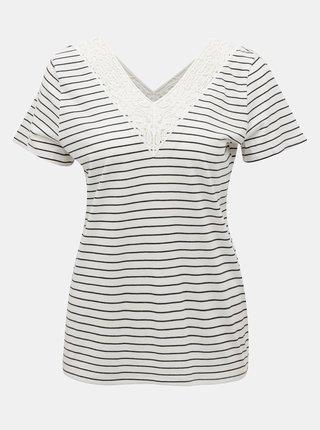 Bílé pruhované tričko VERO MODA Hela