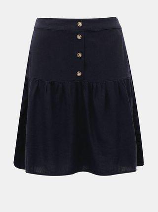 Tmavomodrá ľanová sukňa VERO MODA Helen